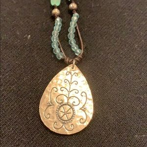 Silpada necklace with turquoise beads
